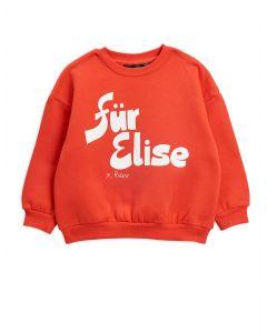 Mini Rodini | Fur Elise Sweatshirt in Red