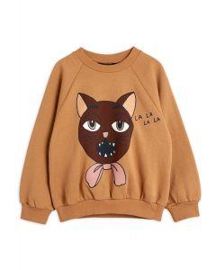 Mini Rodini | Cat Choir Sweatshirt in Beige