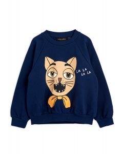 Mini Rodini | Cat Choir Sweatshirt in Navy