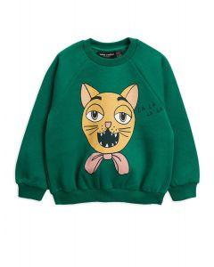 Mini Rodini | Cat Choir Sweatshirt in Green