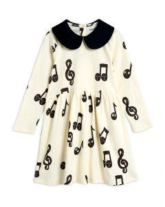 Mini Rodini   Notes Long Sleeve Dress