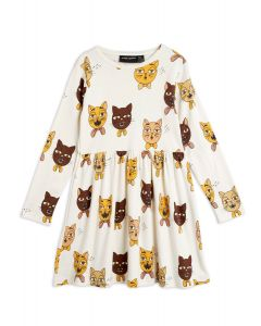 Mini Rodini | Cat Choir Long Sleeve Dress