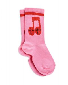 Mini Rodini | Notes Socks in Pink