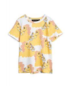 Mini Rodini | ORGANIC Unicorn Noodles Tee | Yellow