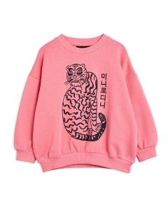 Mini Rodini | Tiger Sweatshirt in Blue | Organic Cotton