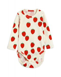 Mini Rodini | Strawberry Long Sleeve Body