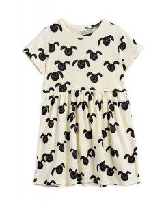 Mini Rodini | Rabbits Short Sleeve Dress | Organic Cotton