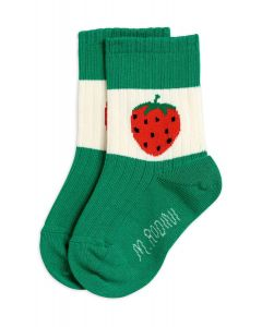 Mini Rodini | Strawberry Ribbed Socks | Green