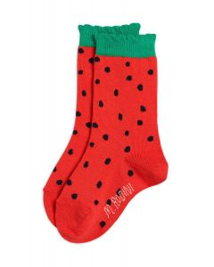 Mini Rodini | Strawberry Scallop Socks | Organic Cotton