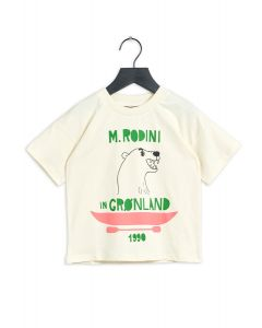 Mini Rodini Polar Bear Short Sleeve Tee | Off White