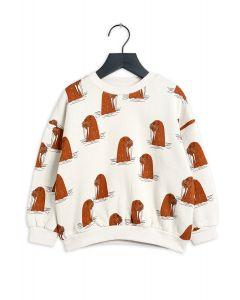 Mini Rodini | Walrus Sweatshirt in Grey | 100% Organic Cotton | SKiN&BLiSS