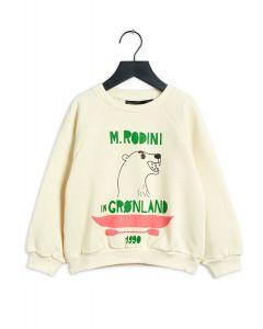 Mini Rodini Walrus Sweatshirt | Light Green