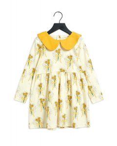 Mini Rodini Polar Bear Long Sleeve Dress | Yellow