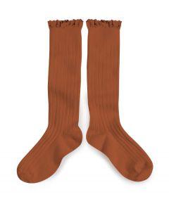 Collegien Josephine Knee High Socks | Lace Trim | Pain d'Epice