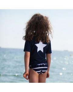Petit Crabe - Bikini Pants - Navy & White