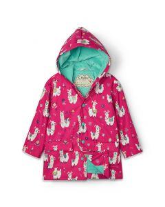 Hatley Girls Raincoat | Alpacas