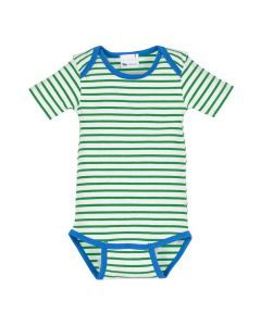 l'asticot - body suit - green stripes