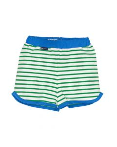 l'asticot - baby shorts - green stripes