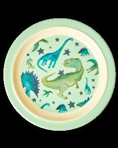 Rice Melamine KIds Lunch Plate | Dino