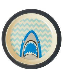 Rice Melamine Kids Lunch Plate   Shark Print