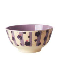 Rice Melamine Medium Bowl | Blackberry