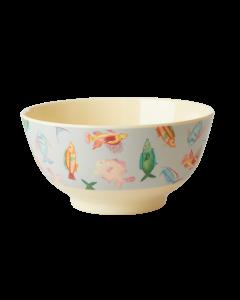 Rice Melamine Medium Bowl | Candy Stripe