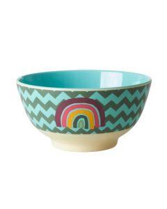 Rice Melamine Medium Bowl | Zig Zag