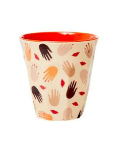 Rice Melamine Cup | Hands & Kisses