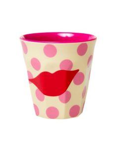 Rice Melamine Cup   Kiss Print
