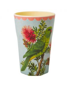 Rice Tall Melamine Cup | Green Budgie