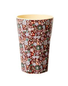 Rice Tall Melamine Cup | Floral Fall