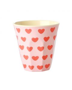 Rice Melamine Cup | Sweet Hearts