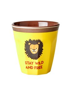 Rice Melamine Cup | Yellow Lion