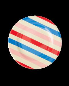 Rice Melamine Children's Side Plate | Candy Stripes