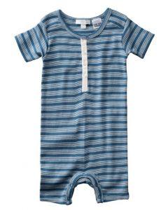 Purebaby - Tidal Stripe Babygrow - 100% ORGANIC