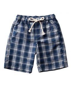 Purebaby - Woven Navy Check Shorts - 100% ORGANIC