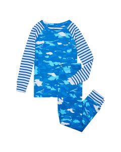 Hatley Organic Pyjamas | Camo Sharks PJ Set