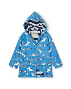 Hatley Raincoat | Colour Changing Deep Sea Sharks