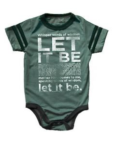Rowdy Sprout Babygrow | Let it Be | The Beatles | SKiN&BLiSS