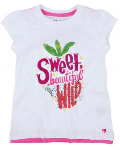 Girls Hatley Sweet Tee - Strawberry Sundae