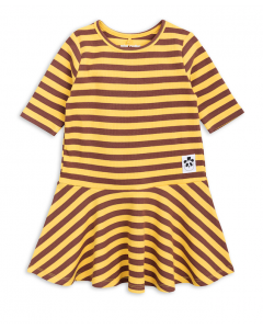 mini rodini - ORGANIC COTTON DRESS - Stripey Rib