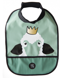 Baby Livia High Neck Bib - Sonja the Sheep - Green
