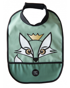 Baby Livia High Neck Bib - Rudy the Fox - Green
