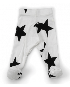nununu - STAR FOOTED LEGGINGS - White