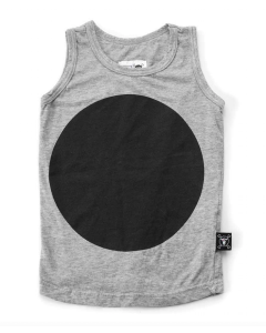 nununu - Circle Vest Top - Heather Grey
