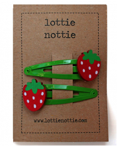 lottie nottie - STRAWBERRY - Green Hair Clips