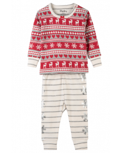 Hatley Pyjamas | Fair Isle Fawn PJs | Organic Cotton