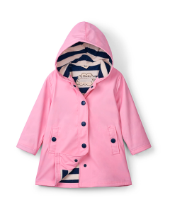 Girls Hatley Raincoat | Pink Splash Jacket