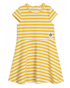 Mini Rodini | Stripe Rib Short Sleeve Dress