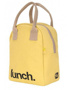 FLUF YELLOW Lunch Bag with Zipper